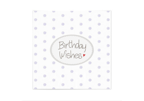 Mea Living Servietten | Birthday Wishes | Weiss-Lila