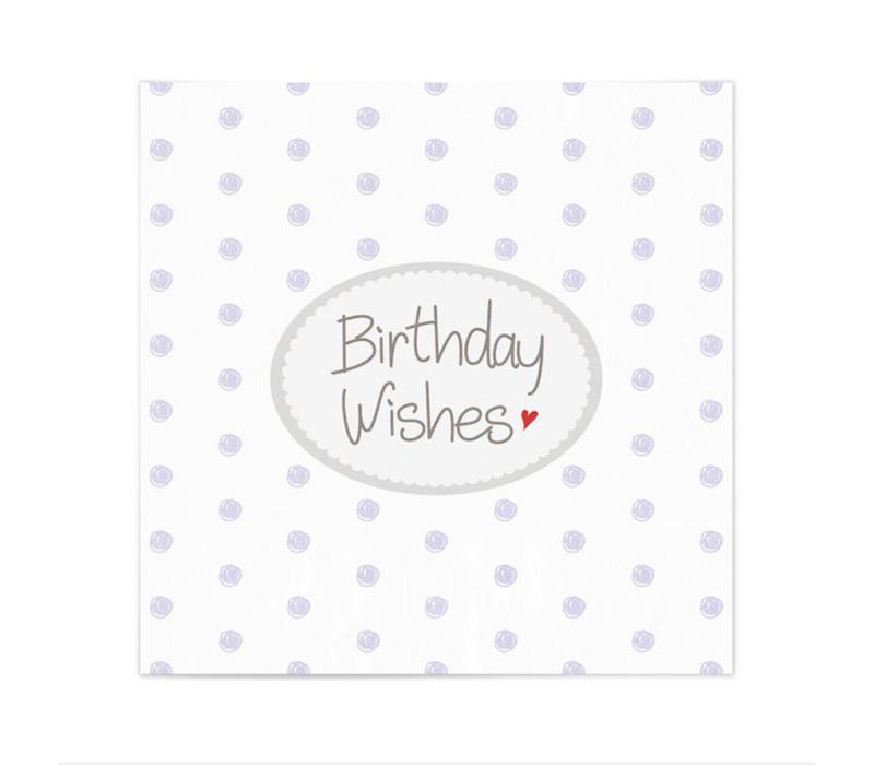 Servietten | Birthday Wishes | Weiss-Lila