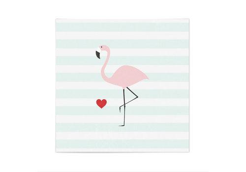 Mea Living Servietten | Flamingo | Stripes