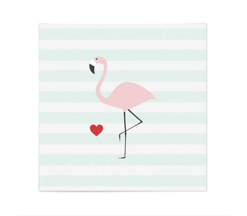 Servietten | Flamingo | Stripes