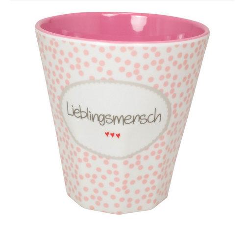 Mea Living Melamin Becher Klein | Lieblingsmensch | 250 ml