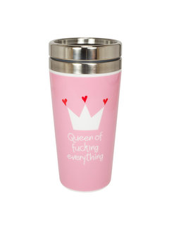 Mea Living Coffee to go Metall | Queen of fucking everything | 400 ml