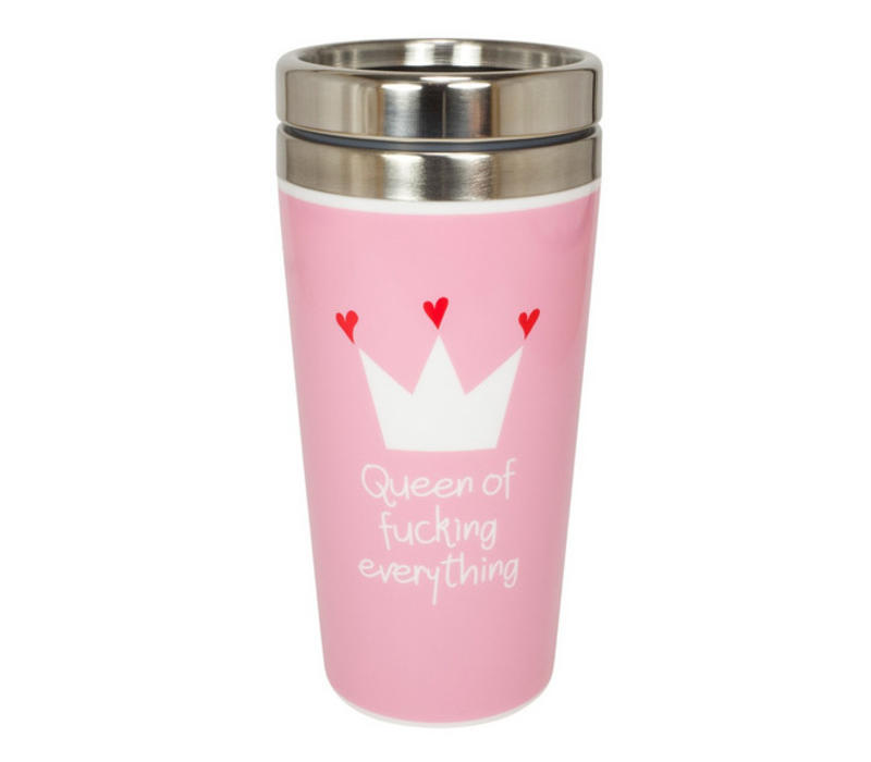 Coffee to go Metall | Queen of fucking everything | 400 ml