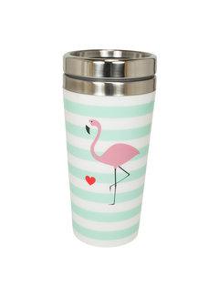 Mea Living Coffee to go Metall | Flamingo | 400 ml