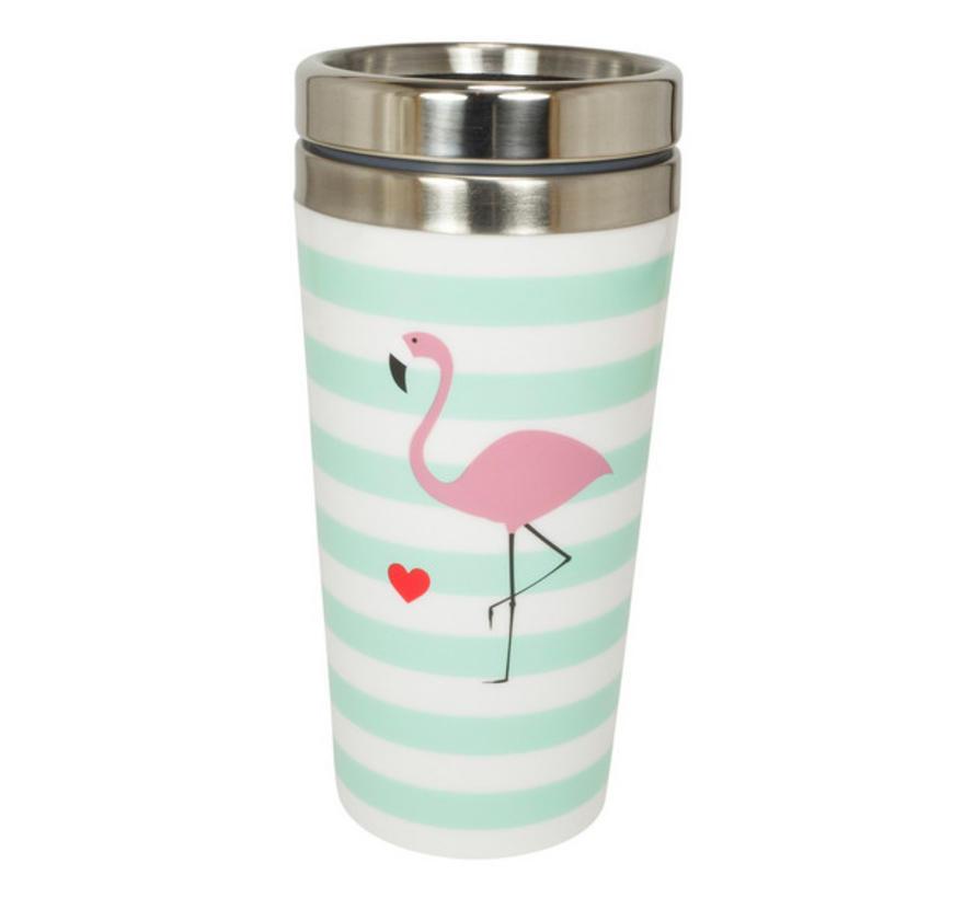 Coffee to go Metall | Flamingo | 400 ml