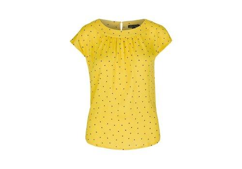 King Louie Shirt   Shirley Top Tiny Tango   Dandelion Yellow