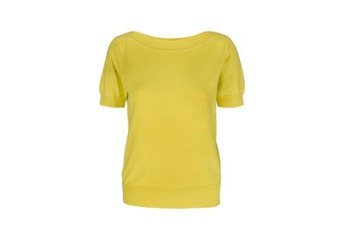 King Louie Shirt   Audrey Top Cottonclub   Lemon Yellow