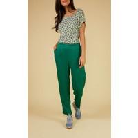 Shirt | Sally Top Printed Cotton Jersey | Cream
