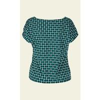 Shirt | Sally Top Printed Cotton Jersey | Black