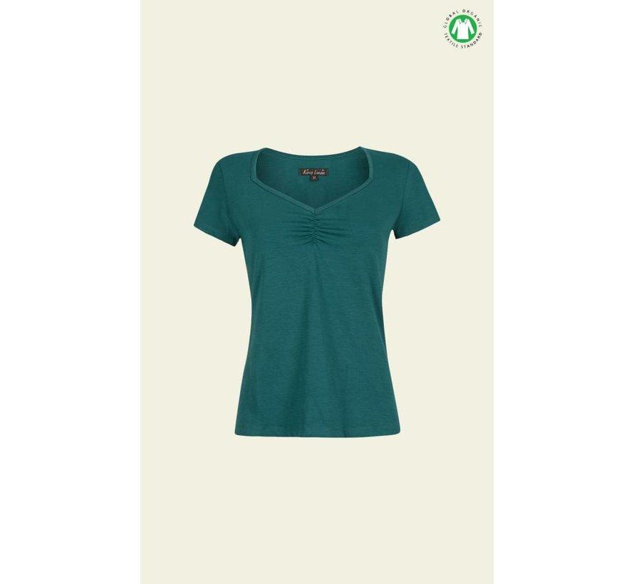 Shirt   Diamond Top Cotton Lycra Light   Ponderosa Green