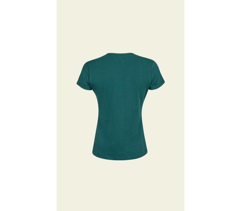 Shirt | Diamond Top Cotton Lycra Light | Ponderosa Green
