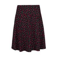Rock | Circle Border Skirt Cherise | Black