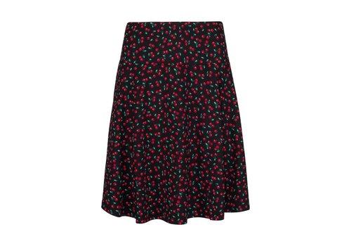 King Louie Rock | Circle Border Skirt Cherise | Black