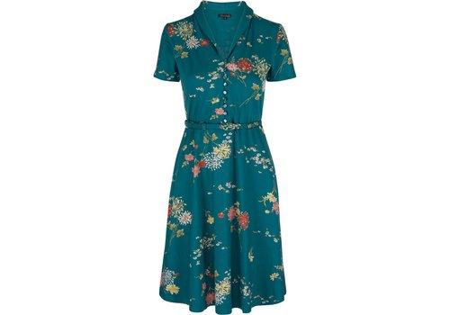 King Louie Kleid | Emmy Dress Goldflower | Lapis Blue