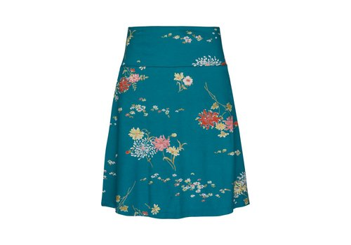 King Louie Rock | Border Skirt Goldflower | Lapis Blue