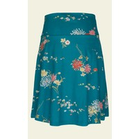 Rock | Border Skirt Goldflower | Lapis Blue