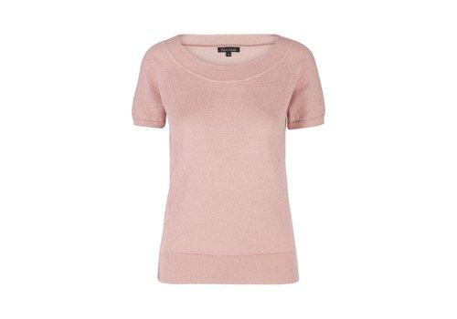 King Louie Shirt | Boatneck Top Lapis | Pale Pink