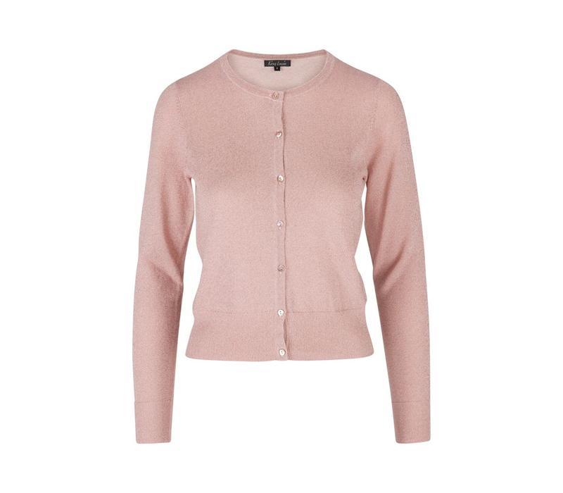 Cardigan | Cardi Roundneck Lapis | Pale Pink