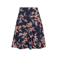 Rock | Circle Border Skirt Haruka | Ink Blue