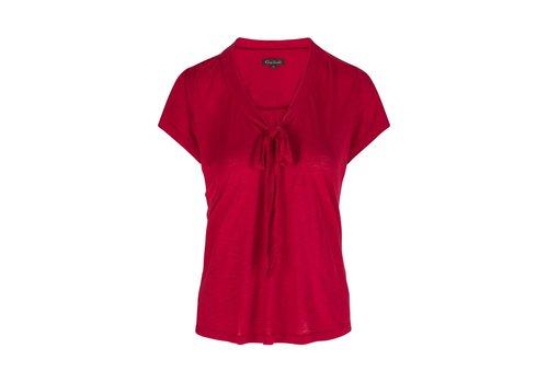 King Louie Shirt | Goldie Top Uni Slub | Ruby Red