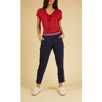 Shirt | Goldie Top Uni Slub | Ruby Red