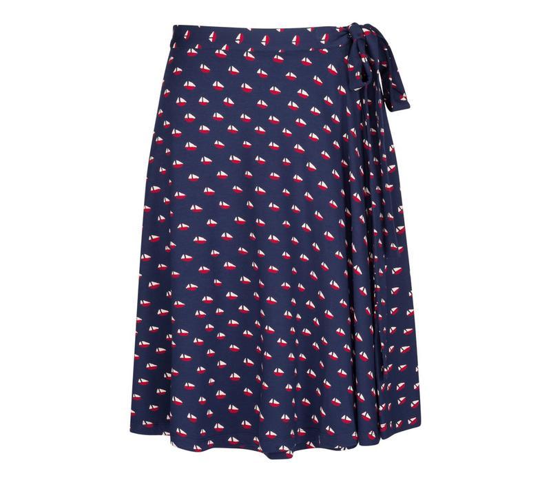 Rock | Circle Wrap Skirt Offshore | Blue