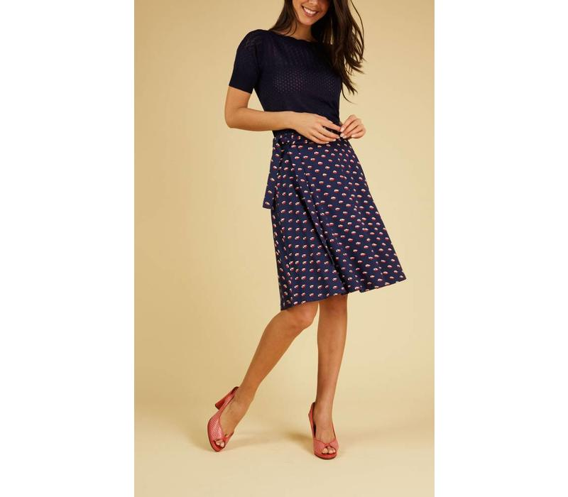 Rock | Circle Wrap Skirt Offshore | Blue