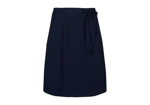 King Louie Rock | Rosa Skirt Woven Crepe | Blue