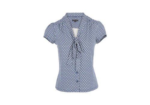 King Louie Shirt | Bow Blouse Conga |  Royal Blue