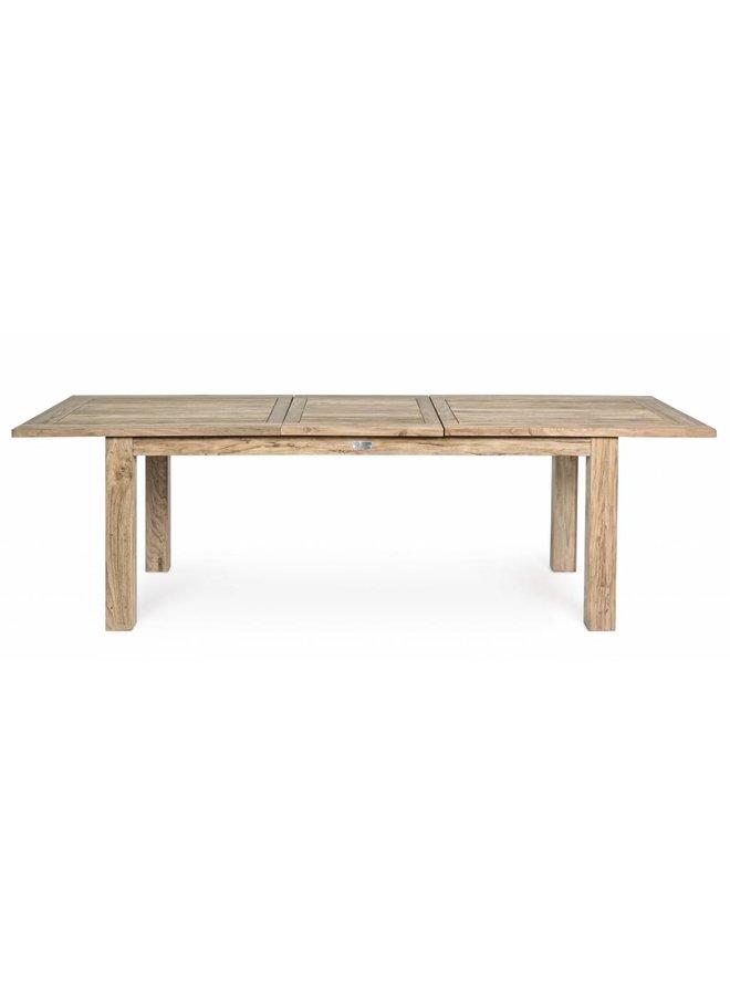 Teakholz Tisch ausziehbar | Montevideo | FSC 200-260 x100