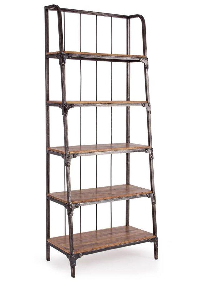 Vintage Büchergestell Regal Oskar | Akazienholz Metall