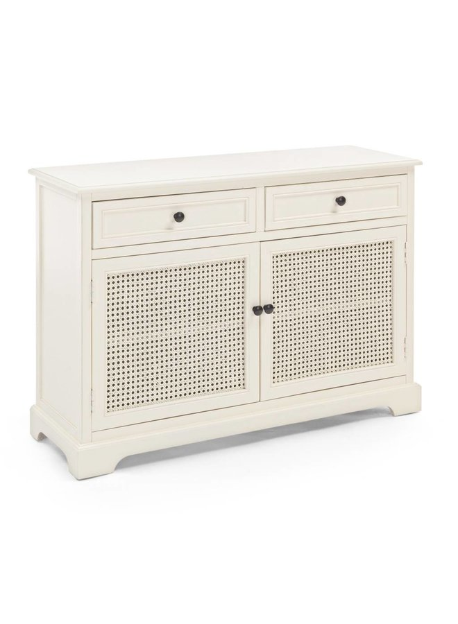 Shabby Chic Kommode Amabel | 2S-2T Cremeweiss