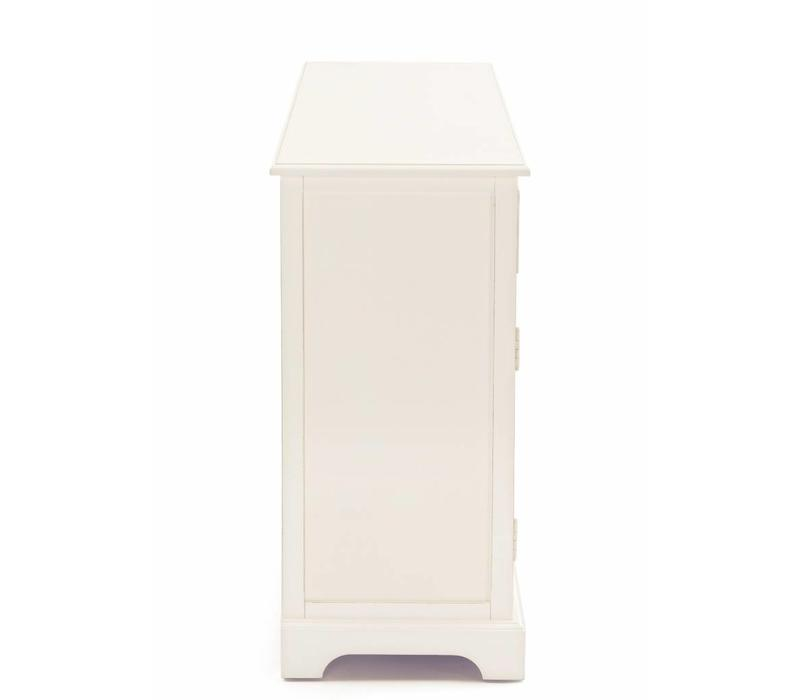 Shabby Chic Kommode Amabel   2S-2T Cremeweiss