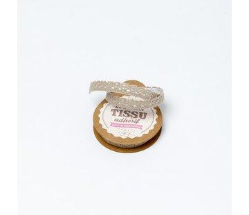 Spitzenband Tape selbstklebend | Taupe | 1cm x 2m