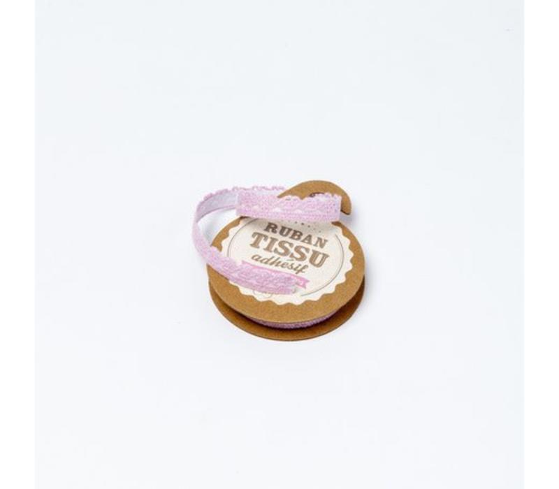 Spitzenband Tape selbstklebend | Rose | 1cm x 2m
