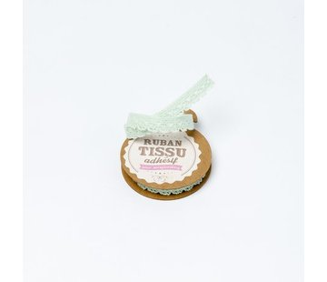 Spitzenband Tape selbstklebend | Mint | 1cm x 2m