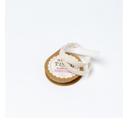 Spitzenband Tape selbstklebend   Beige   1cm x 2m