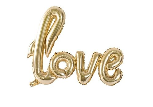 Ballon LOVE | Gold Metal | 100x67cm