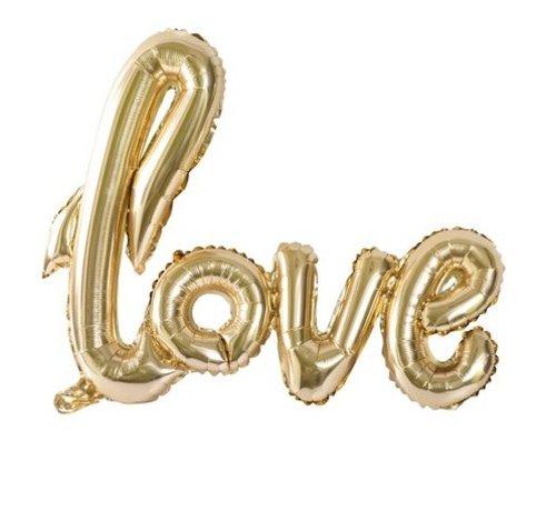 Ballon LOVE | Gold Metal | 100x67cm
