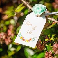 Rose 3.5cm auf Klämmerli | Mint | 6er Pack