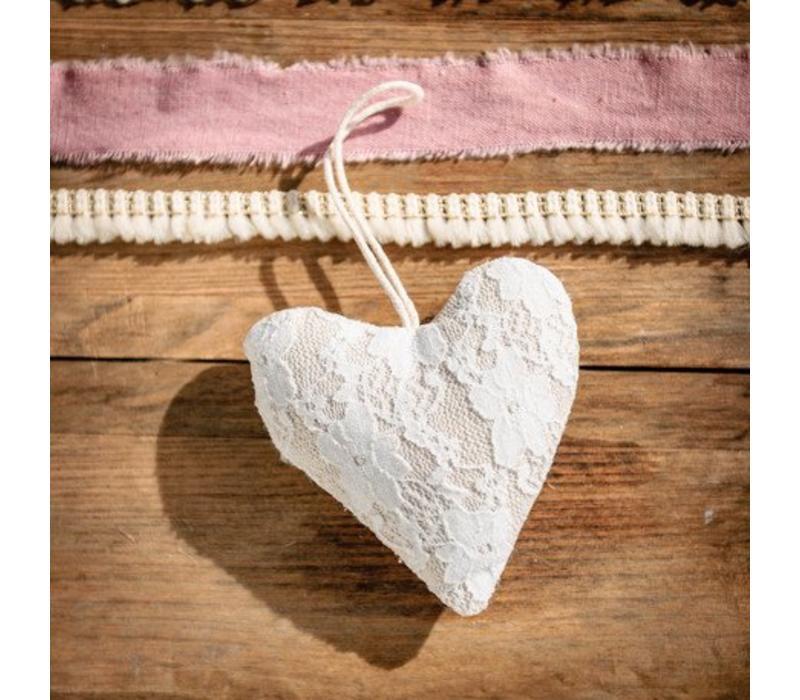 Dekoanhänger Herz mit Spitze | 11cm