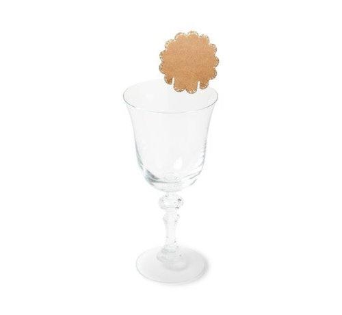 Trinkglas Beschriftung Karton | 8er Pack | 6cm