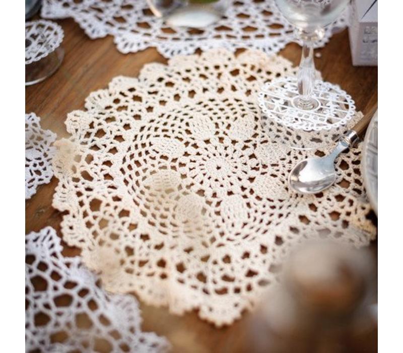 Tischset gehäkelt | Beige | 40cm