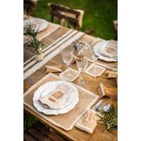 Tischset Jute - Spitze | Beige Braun