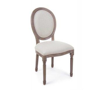 Stuhl Mathilde | Massivholz | Baumwolle - Leinen