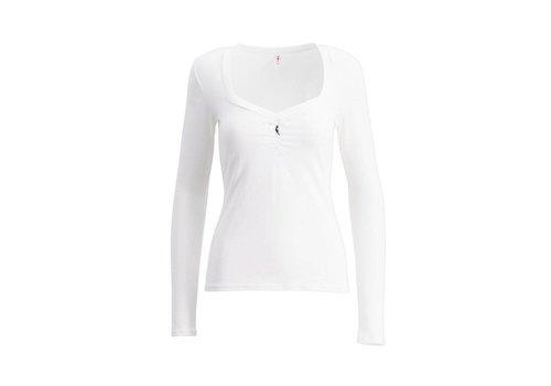 Blutsgeschwister Shirt | logo heart longsleeve | scent of snow
