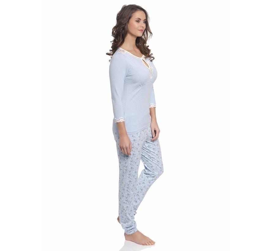 Pyjama | Katies Dream Long Pyjama | hellblau