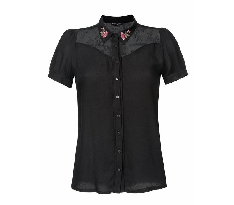 Bluse | Cowgirl Bluse | schwarz