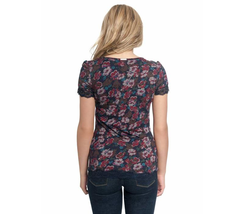 Bluse | Gipsy Flowers Shirt | red allover