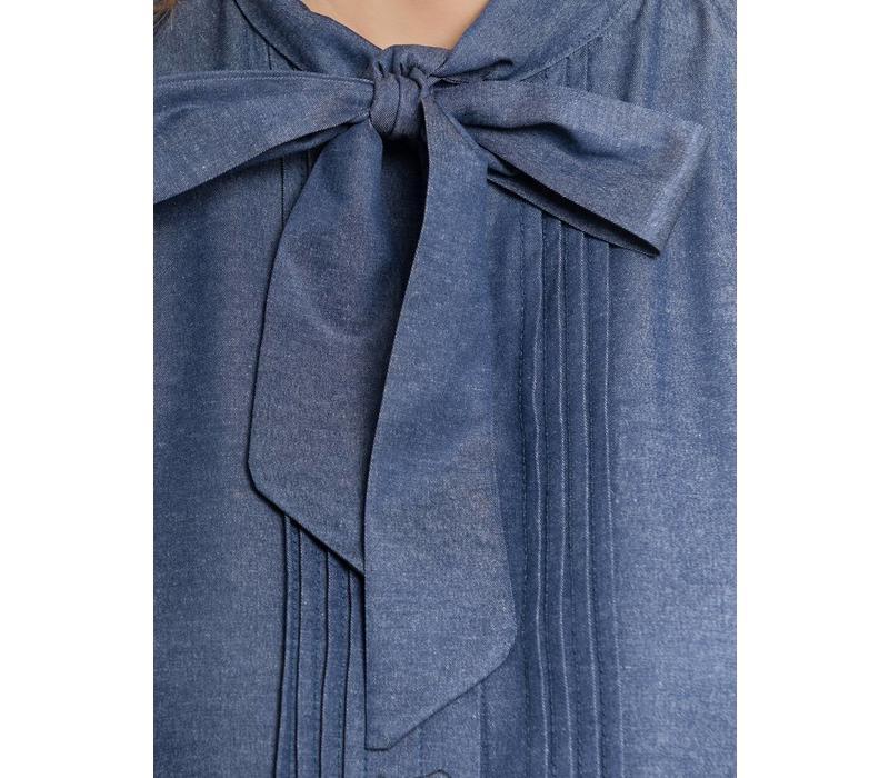 Bluse | Victorian Denim Bluse | darkblue